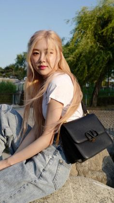 Blackpink Fashion, Fashion Outfits, Foto Rose, Rose And Rosie, Rose Icon, Rose Park, Black Pink Kpop, Blackpink Photos, Park Chaeyoung