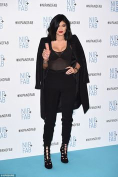 Kylie Jenner rocks high fashion all-black outfit at London photocall #dailymail