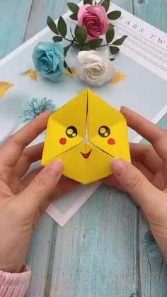 Diy Crafts Hacks, Diy Crafts For Gifts, Diy Arts And Crafts, Creative Crafts, Creative Ideas, Diy Ideas, Summer Crafts, Instruções Origami, Paper Crafts Origami