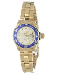 Invicta Women's 14126 Pro Diver Gold Dial 18k Gold Ion-Plated Stainless Steel Watch - $52.18 www.jewelryandwatches.co.za