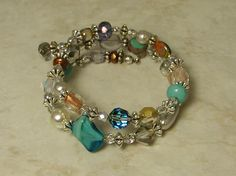 New wrap bracelet by Sue Shefts Designs! I think this would go perfect with things from business attire all the way to partyin it up at a good friend's place! Girly Things, Girly Stuff, Jewelry Design, Jewelry Ideas, Beads And Wire, Lampwork Beads, Bliss, Jewelery, Vintage Jewelry
