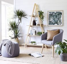 kmart natural living room grey upholstered dining chair and tan leather cushion room styling kmart Kmart designers on what trends are landing in-store Living Room Chairs, Living Room Yellow Accents, Curtains Living Room, Trendy Living Rooms, Kmart Home, Grey Upholstered Dining Chairs, Living Room Remodel, Living Room Grey, Home Decor