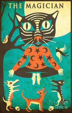The Magician - Tarot Card Cat Digital Art by Jazzberry Blue - The ...
