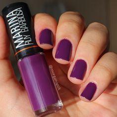 Punk - Marina Ruy Barbosa no Sol   Purple nails   Hits   Nail Polish   by @morganapzk