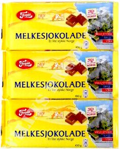 Can't live without these either. Freia milk chocolate from Norway Nordic Goddesses, Norwegian Food, Scandinavian Food, Snack Recipes, Snacks, How To Introduce Yourself, Norway, Holiday Gifts, Chocolate Bars