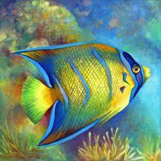 Juvenile Queen Angelfish | Nancy Tilles