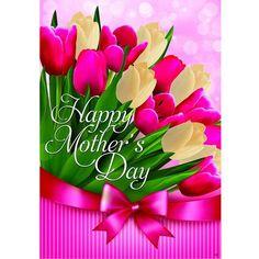 Tulips For Mom Flag