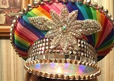 Repurposed Military Hat: The Disco by FestivalInspirations