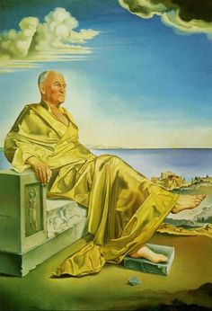 """Salvador Dali - """"La Turbie"""" (Sir James Dunn Seated), 1949 (oil on canvas) Spanish Painters, Spanish Artists, Magritte, Wassily Kandinsky, Figueras, Salvador Dali Paintings, Picasso Cubism, Eugenia Loli, Francis Picabia"""