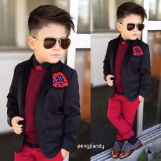 Image may contain: 2 people Toddler Haircuts, Little Boy Haircuts, Baby Boy Dress, Baby Boy Swag, Kid Swag, Toddler Boy Fashion, Little Boy Fashion, Fashion Children, Little Boy Outfits