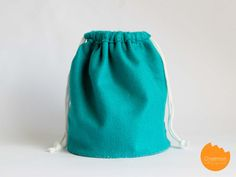 felt drawstring bucket bag DIY