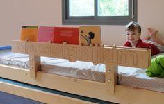 Alpha-Bookshelf Wooden Rail for Kids' Beds sur Etsy