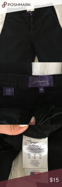 Jeans Black jeans. Great condition not your daughters jeans Jeans Straight Leg