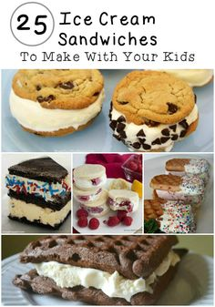 Grab the kids and head in to the kitchen to make one of these fun ice cream sandwiches! From waffles to brownies - pick your favorite ice cream and stuff between anything you can imagine!