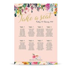 Roses A2 Table Plan