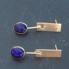 Lapis Lazuli Earrings  Handmade Sterling Silver by GGsGems16
