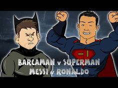 The release of Batman v Superman in the cinema has spawned a couple of Leo Messi v Cristiano spin-offs. Also see: Lionel Messi fights Cristiano Ronaldo in Superman, Batman, Lionel Messi, Cristiano Ronaldo, Leo, Goals, Sports, Fictional Characters, Hs Sports