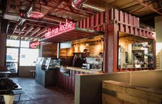 Tucson food hall American Eat Co. is officially open. Café con Leche is open at 6:30 a.m. daily, while restaurants open at 11 a.m. daily.