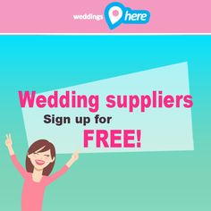 Building a network is vital in the wedding industry. Tag a friend who would like to sign up to WeddingsHere as a supplier. http://weddingshere.co.za/Register/ChooseType