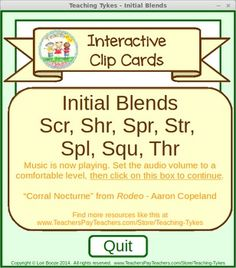 Initial Three-letter Blends Interactive Clip Cards