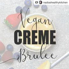 Basic 5-ingredient VEGAN CREME BRÛLÉE 🍮from @nadiashealthykitchen FULL RECIPE via link in her bio #vegandessert #brulee #dessert