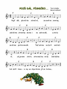 Vanocni pisnicka Sheet Music, Notes, School, Advent, Piano, Musica, Manualidades, Report Cards, Notebook
