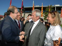 El Presidente de la Comunidad de Castilla y León y el Vicepresidente de la Región francesa de Aquitania, momentos antes de la inauguración de Agromaq 2011. (07/09/2011)