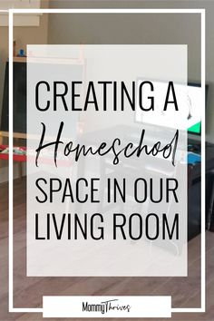 Homeschool Room Decor - How To Decorate A Homeschool Room - Preschool At Home Decorating Ideas - Creating A Homeschool Space In Our Living Room Home Learning, Learning Spaces, Learning Stations, Preschool At Home, Montessori Preschool, How To Start Homeschooling, Online Homeschooling, Science Activities For Kids, Cute Dorm Rooms