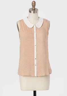 Yours Truly Polka Dot Blouse at ShopRuche.com