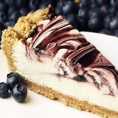 Blueberry Swirl Cheese Cake Recipe from Mamma's Recipes
