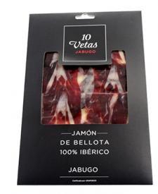 Jamón Ibérico de bellota cortado a mano 10 vetas 80g.  #jamoniberico #spanishjam #gourmet