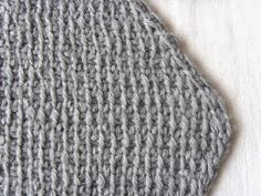 Hekel Idees: Tunisiese Hekel: Driehoek Serp Afrikaans, Knitted Hats, Crochet Patterns, Knitting, Tricot, Crochet Pattern, Breien, Stricken, Weaving