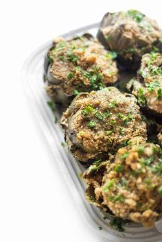 These Italian stuffed artichokes are made with simple pantry ingredients and result in the most comforting crowd-pleasing side dish recipe. Healthy Appetizers, Appetizer Recipes, Dinner Recipes, Side Dish Recipes, Vegetable Recipes, Kitchen Recipes, Cooking Recipes, Yummy Recipes, Vegetarian Recipes