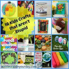 Crafts that aren't stupid kids