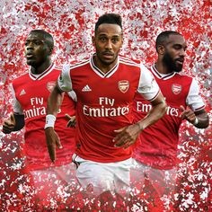 """""""Pierre-Emerick Aubameyang, Alexandre Lacazette and new Arsenal arrival Nicolas Pépé scored 73 goals combined last season. This is going to be fun 🍿"""" Arsenal Fc Players, Aubameyang Arsenal, Arsenal Football, Soccer Art, Soccer Poster, Arsenal Wallpapers, Nike Wallpaper Iphone, Liverpool Fc Wallpaper, Pierre Emerick"""