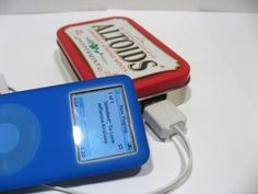solar powered USB charger made from an Altoids tin...how MacGyver!