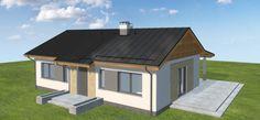 Projekt domu Terrier 2 bez garażu 93,3 m2 - koszt budowy - EXTRADOM Sweet Home, Outdoor Structures, House, House Beautiful