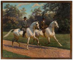 Untitled Equestrian Scene by Oskar Merte Equestrian Art, Fine Art, Vintage Art, Animal Art, Vintage Painting, Art, Artwork, Horse Painting, Animal Paintings