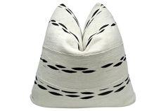 Mali Natural Mud-Cloth & Linen Pillow