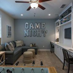 Source by FrechHouse The post Top 50 Best Bonus Room Ideas & Spare Interior Space Designs appeared first on Tahlia Home Decorator. Teen Game Rooms, Small Game Rooms, Bonus Rooms, Rec Rooms, Game Room Kids, Teen Basement, Game Room Basement, Basement Bedrooms, Basement Ideas