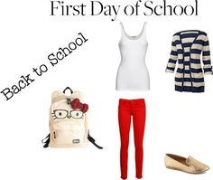 """""""first day of school outfit"""" by melissa78910 on Polyvore"""