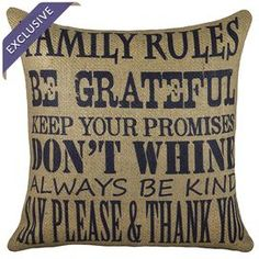 """Handmade burlap pillow with block printing.     Product: PillowConstruction Material: BurlapColor: Navy and beigeFeatures:  Handmade by TheWatsonShop exclusively for Joss & MainZippered closureInsert included Made in the USA Dimensions: 16"""" x 16""""Cleaning and Care: Spot clean only"""