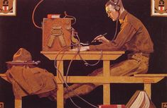 Norman Rockwell (1894-1978)  The US Army Trades  Oil on canvas  1919
