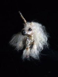 OOAK+handmade+clay+fur+sculpture+unicorn+horse+fairy+art+doll+by+Shawna