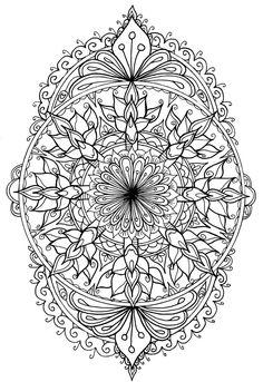 Mandala Art, Mandalas Painting, Mandalas Drawing, Mandala Tattoo, Mandala Design, Tattoo Art, Detailed Coloring Pages, Mandala Coloring Pages, Coloring Book Pages