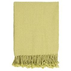 "Get cozy on the sofa or adorn your settee with this stylish lime-hued throw, showcasing fringed details.  Product: ThrowConstruction Material: 100% AcrylicColor: LimeFeatures: Fringed edgeDimensions: 50"" x 60""Cleaning and Care: With a dry cotton towel or white paper towel, blot out stain as much as possible. Scrape off any debris."