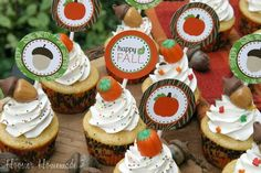 Fall Cupcake Toppers