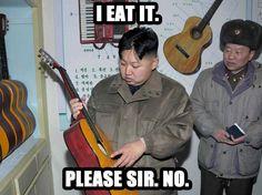 The Kim Jong Un Wanting To Eat Things Things Meme Kim Jong Un Memes, Kim Meme, Good Jokes, Funny Jokes, 7 A 1, Kim Jong Il, True Facts, World Leaders, Stressed Out