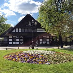 Dahlem-Dorf U-Bahn (U3 Line ) Station, Berlin.  Built in 1913 by architects F.and W. Hennings. The architecture of the station building with its distinctive thatched roof is traditional northern-German farmhouses. Closed 1945 for a few months due to the war. 1980, the thatched roof was burned down due to arson. Rebuilt with an additional lift in 1981. In April 2012, the station burned down again & was restored in mid-2013, using acrylic instead of thatch due to safety.