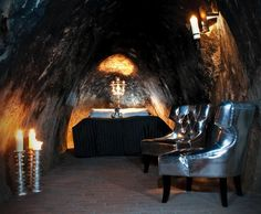The Mine Suite at the Sala Silvermine, Sweden, is the world's deepest hotel room. The unusual hotel in a former mine also has a cheap hostel and activities. Underground Hotel, Underground Living, Unusual Hotels, Cave Hotel, Beste Hotels, Night Vale, Hotel Suites, Beautiful Hotels, Amazing Hotels